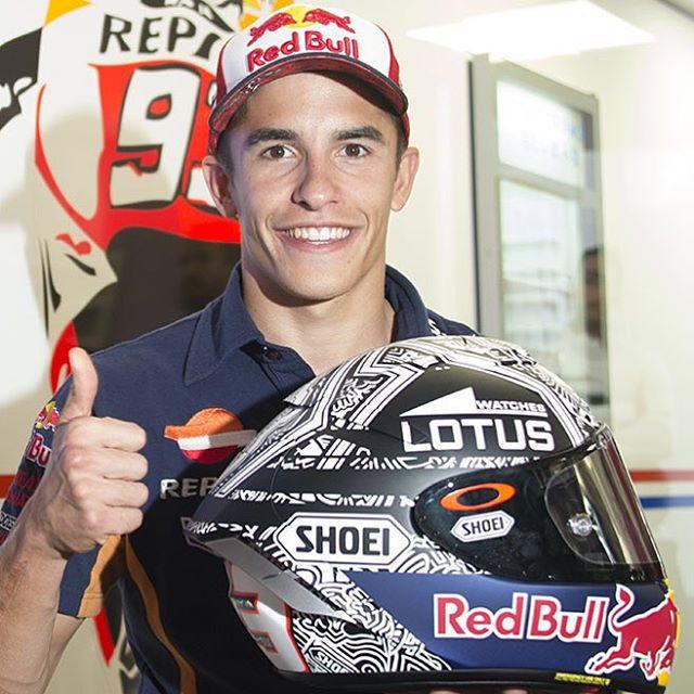 MotoGP: Helm Shoei (X-Spirit III) Terbaru Marquez untuk Seri Aragon 2015