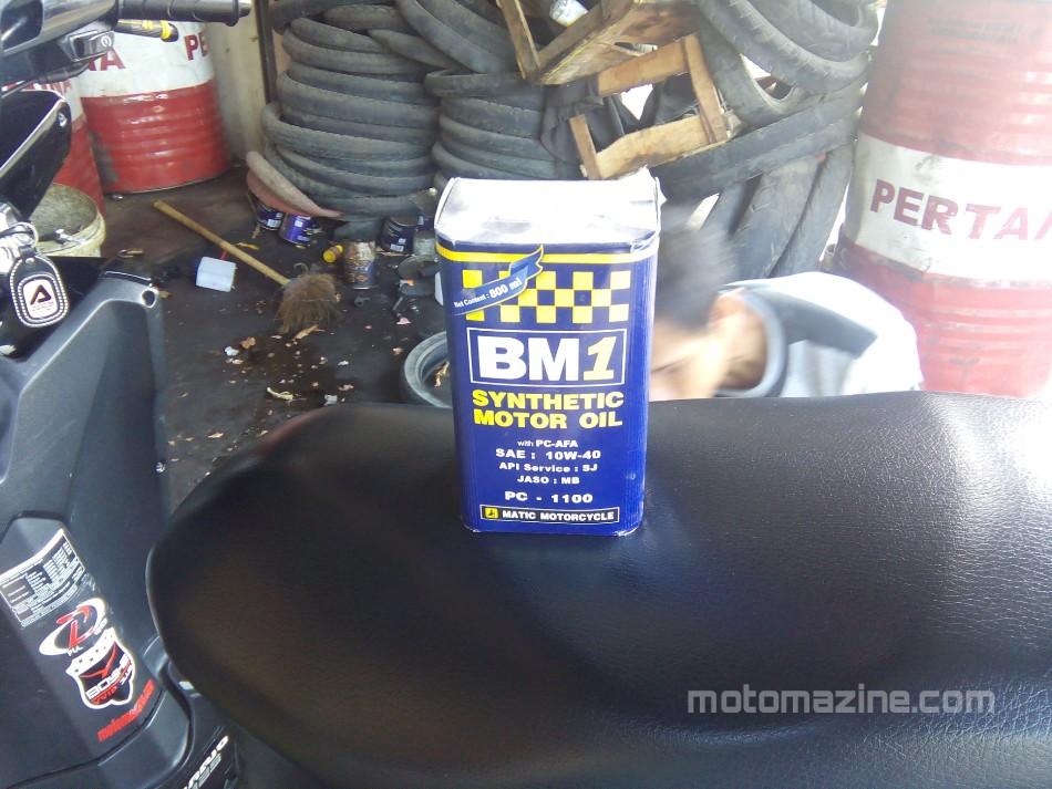 Review Pelumas BM1 Synthetic Oil Matic SAE 10W-40.. Mesin Halus Tarikan Yahuuud…!!!