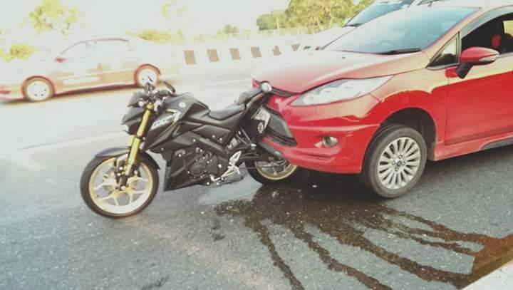 Foto Kecelakaan Yamaha M-Slaz ini Asli apa Editan..???