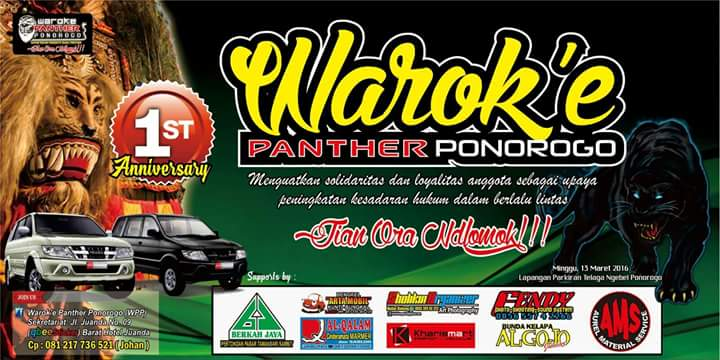 First Anniversary Waroke Panther Ponorogo… Ngebel Lautan Panther…!!!