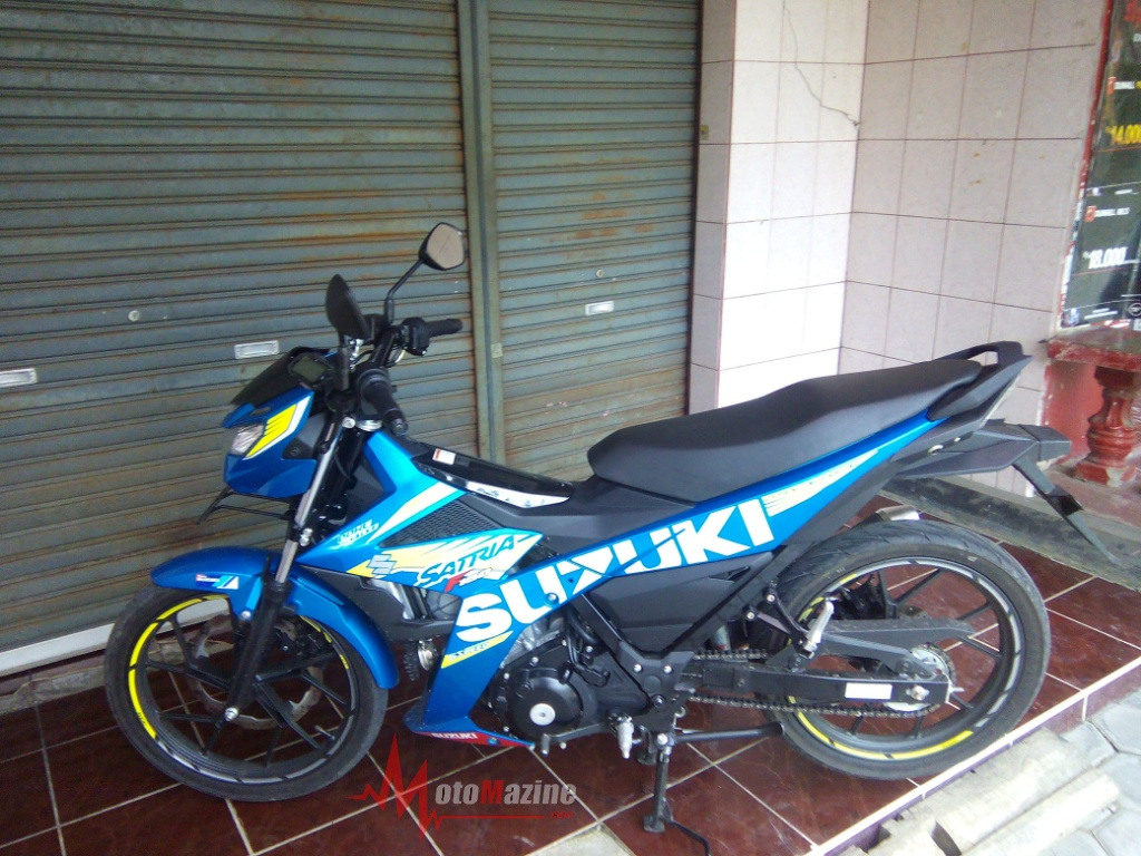 Unit Test Ride Suzuki Satria F150 Fi sudah sampai ke tangan Motomazine…!!!