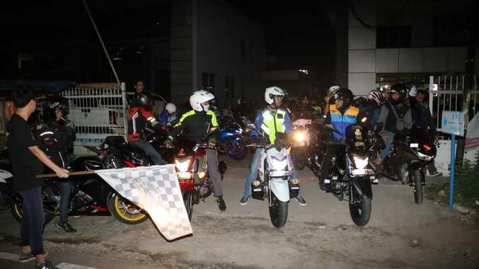 Awali 2019 Biker Suzuki Gelar Night Riding sekaligus Resmikan Komunitas Bandit