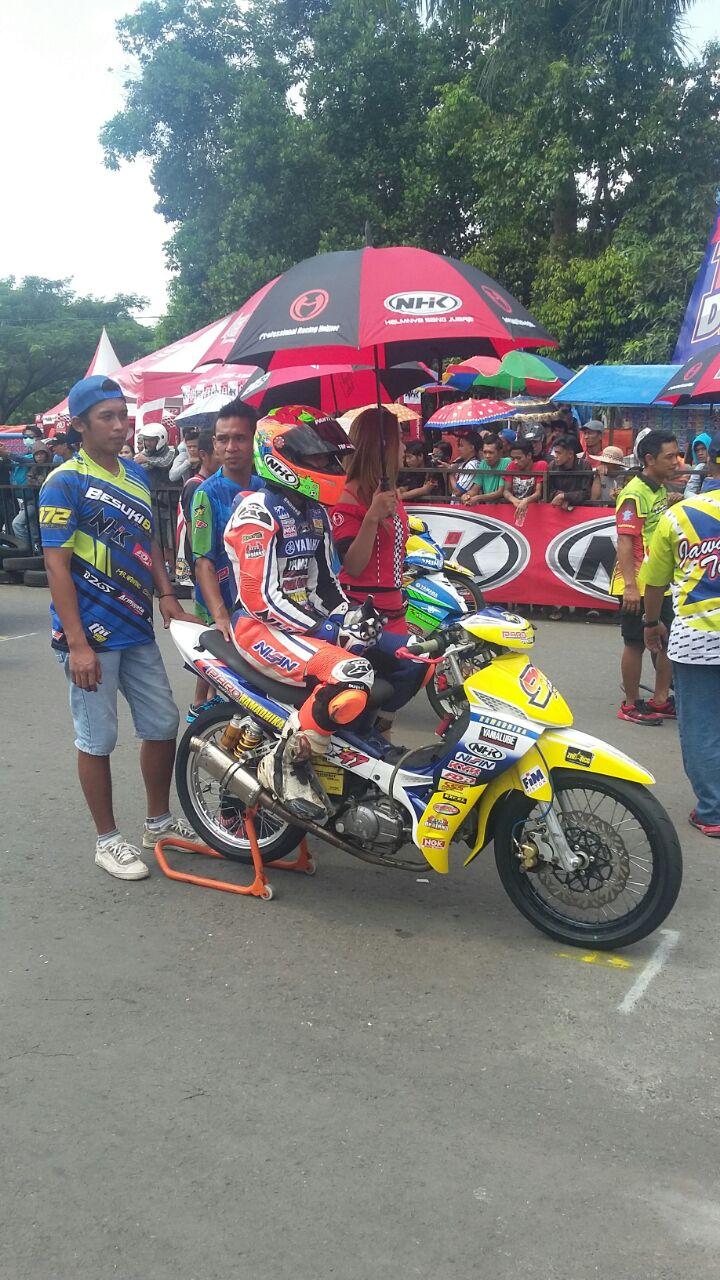 Jupiter Z Burhan Berjaya pada MP4 Motoprix Region 2 Malang, Jatim