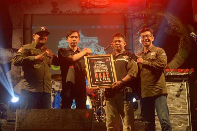Meriah, 2000 Bikers Sukseskan Satu Dekade Surabaya BeAT Club